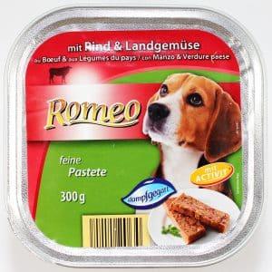 aldi süd romeo select feine pastete mit rind & landgemüse